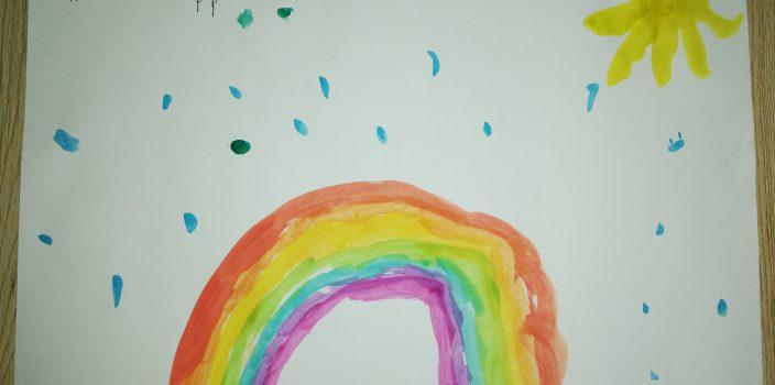 Regenbogenaktion für Kinder